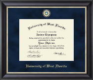 University of West Florida Diploma Frame - Regal Edition Diploma Frame in Noir
