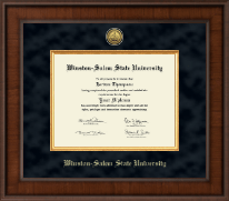 Winston-Salem State University Diploma Frame - Presidential Gold Engraved Diploma Frame in Madison