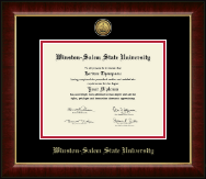 Winston-Salem State University Diploma Frame - Gold Engraved Medallion Diploma Frame in Murano