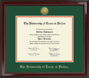 The University of Texas at Dallas Diploma Frame - Gold Engraved Medallion Diploma Frame in Encore