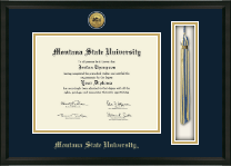 Gold Engraved Tassel Edition Diploma Frame in Omega