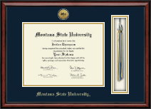 Montana State University Bozeman Diploma Frame - Gold Engraved Tassel Edition Diploma Frame in Southport