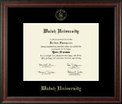 Walsh University Diploma Frame - Gold Embossed Diploma Frame in Studio