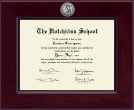The Hotchkiss School Diploma Frame - Century Silver Engraved Diploma Frame in Cordova