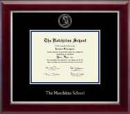The Hotchkiss School Diploma Frame - Silver Embossed Diploma Frame in Gallery Silver
