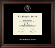 The Hotchkiss School Diploma Frame - Silver Embossed Diploma Frame in Studio