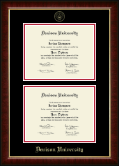 Denison University  Diploma Frame - Double Diploma Frame in Murano