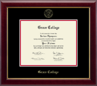 Grace College Diploma Frame - Gold Embossed Diploma Frame in Gallery
