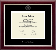 Grace College Diploma Frame - Silver Embossed Diploma Frame in Gallery Silver