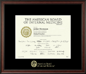 "11""x14""- Gold Embossed Certificate Frame"