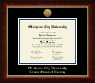Oklahoma City University Diploma Frame - Gold Engraved Medallion Diploma Frame in Murano