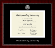 Oklahoma City University Diploma Frame - Silver Engraved Medallion Diploma Frame in Sutton