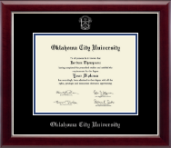 Oklahoma City University Diploma Frame - Silver Embossed Diploma Frame in Gallery Silver