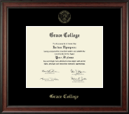 Grace College Diploma Frame - Gold Embossed Diploma Frame in Studio