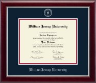 William Jessup University Diploma Frame - Silver Embossed Diploma Frame in Gallery Silver