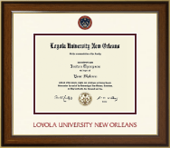 Loyola University New Orleans Diploma Frame - Dimensions Diploma Frame in Westwood