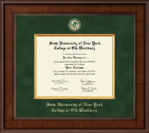 SUNY The College of Old Westbury Diploma Frame - Presidential Masterpiece Diploma Frame in Madison