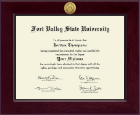 Fort Valley State University Diploma Frame - Century Gold Engraved Diploma Frame in Cordova