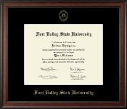 Fort Valley State University Diploma Frame - Gold Embossed Diploma Frame in Studio
