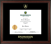 Rasmussen College Diploma Frame - Gold Embossed Diploma Frame in Studio