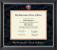 The University of Texas at Dallas Diploma Frame - Masterpiece Medallion Diploma Frame in Noir
