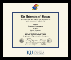 The University of Kansas Diploma Frame - Dimensions Diploma Frame in Metro