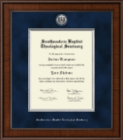 Southeastern Baptist Theological Seminary Diploma Frame - Presidential Silver Engraved Diploma Frame in Madison