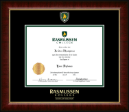 Rasmussen College Diploma Frame - Masterpiece Medallion Diploma Frame in Murano