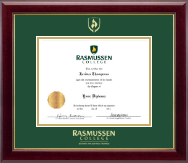 Rasmussen College Diploma Frame - Gold Embossed Diploma Frame in Gallery