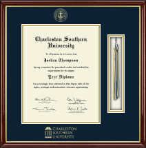Charleston Southern University Diploma Frame - Tassel Edition Diploma Frame in Southport Gold