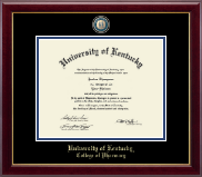 University of Kentucky Diploma Frame - Masterpiece Medallion Diploma Frame in Gallery