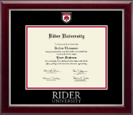 Rider University Diploma Frame - Masterpiece Medallion Diploma Frame in Gallery Silver