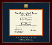 The University of Texas San Antonio Diploma Frame - Gold Engraved Medallion Diploma Frame in Sutton