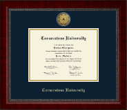 Cornerstone University Diploma Frame - Gold Engraved Medallion Diploma Frame in Sutton