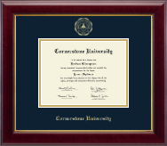 Cornerstone University Diploma Frame - Gold Embossed Diploma Frame in Gallery