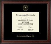 Cornerstone University Diploma Frame - Gold Embossed Diploma Frame in Studio