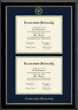 Cornerstone University Diploma Frame - Double Diploma Frame in Onyx Gold