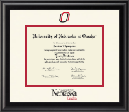 University of  Nebraska at Omaha Diploma Frame - Dimensions Diploma Frame in Midnight