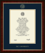 Rice University Diploma Frame - Gold Embossed Diploma Frame in Murano