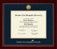 Southern New Hampshire University Diploma Frame - Gold Engraved Medallion Diploma Frame in Sutton