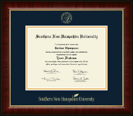 Southern New Hampshire University Diploma Frame - Gold Embossed Diploma Frame in Murano