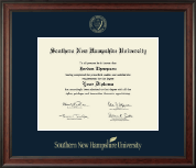Southern New Hampshire University Diploma Frame - Gold Embossed Diploma Frame in Studio
