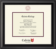 Calvin College Diploma Frame - Dimensions Diploma Frame in Midnight
