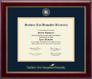 Southern New Hampshire University Diploma Frame - Masterpiece Medallion Diploma Frame in Gallery