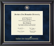 Southern New Hampshire University Diploma Frame - Regal Edition Diploma Frame in Noir