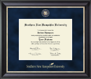 Southern New Hampshire University Diploma Frame - Regal Edition Diploma Frame in Midnight