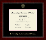 University of  Nebraska at Omaha Diploma Frame - Gold Embossed Diploma Frame in Sutton