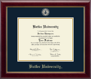 Butler University Diploma Frame - Masterpiece Medallion Diploma Frame in Gallery