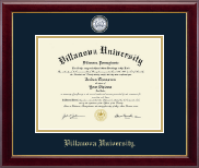 Villanova University Diploma Frame - Masterpiece Medallion Diploma Frame in Gallery