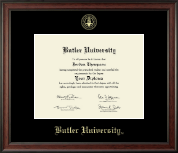Butler University Diploma Frame - Gold Embossed Diploma Frame in Studio